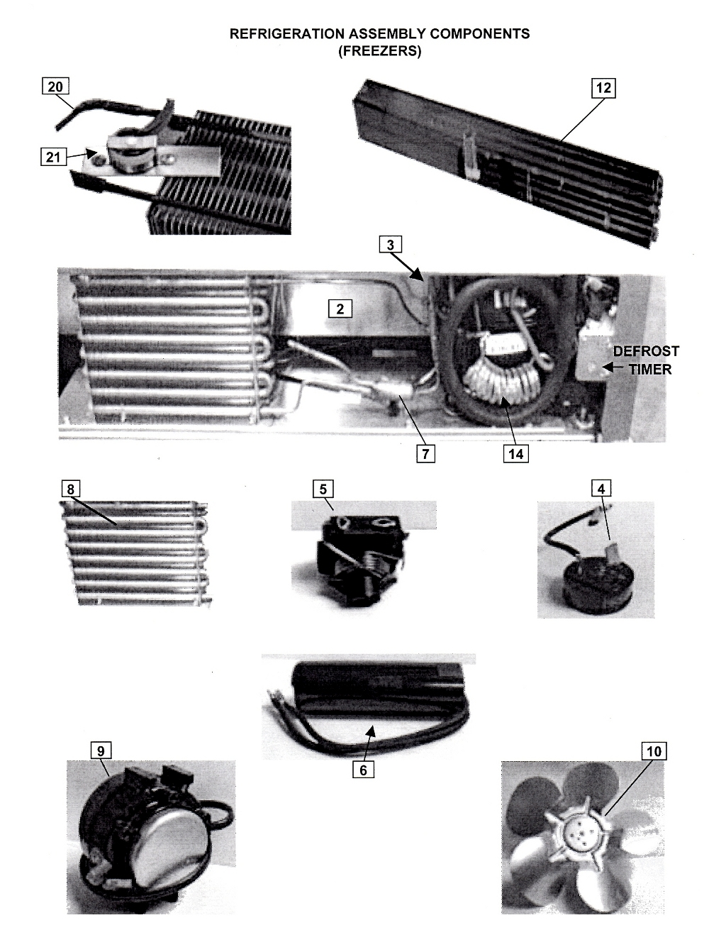 Refrigeration Assembly Components