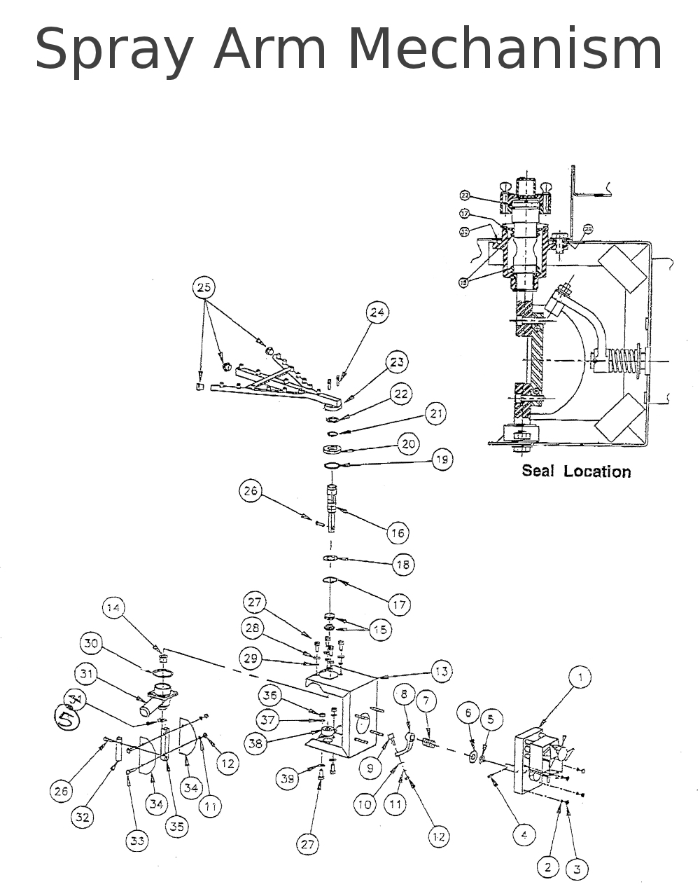 Spray Arm Drive Mechanism Parts
