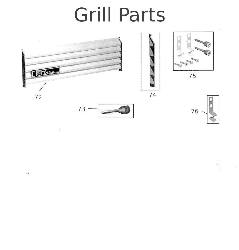 GDM Slide Door Grill Parts